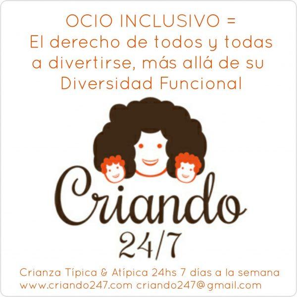 ocio inclusivo el derecho de todos y todas a divertirse más allá de su diversidad funcional logo de criando 24/7