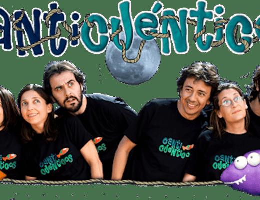 foto del grupo canticuenticos, con el nombre encima y unos peces ilustrados
