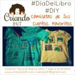#DiaDelLibro #DIY Camiseta con sus cuentos favoritos
