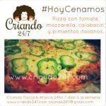 #HoyCenamos : Pizza con calabacín y pimientos italianos