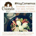 #HoyComemos Ensalada Mezclum con tomates, apio & mozzarella fresca