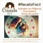 #RecetaFacil Hojaldre de plátano, chocolate & dulce de leche
