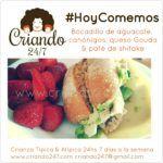 #HoyComemos #OLV Bocadillo de Aguacate, Canónigos, queso Gouda & paté de Shitake
