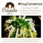 #HoyComemos Ensalada CLARP con Queso de Burgos & Cilantro fresco