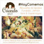 #HoyComemos Revuelto de Queso Fundido, Jamón York & Espárragos