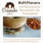#RecetaFacil #aMiManera Hamburguesa Recuerdos de Manhattan
