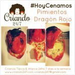 """#HoyCenamos Pimientos """"Dragón Rojo"""""""
