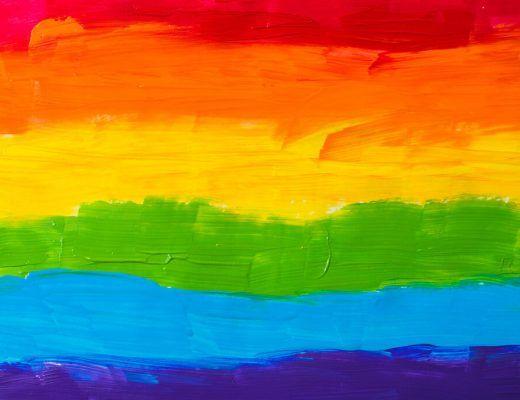 papel pintado con los colores de la bandera del orgullo lgtbiq+
