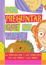 portada del libro por preguntar que no quede con ilustraciones de niños morenos, pelirrojos y letras de colores