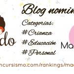 Triple nominación en los Premios Madresfera 2016 & mis recomendaciones
