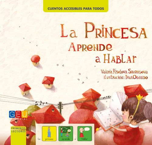 Portada del cuento la princesa aprende a hablar