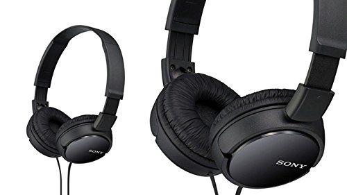 cascos auriculares negros de sony