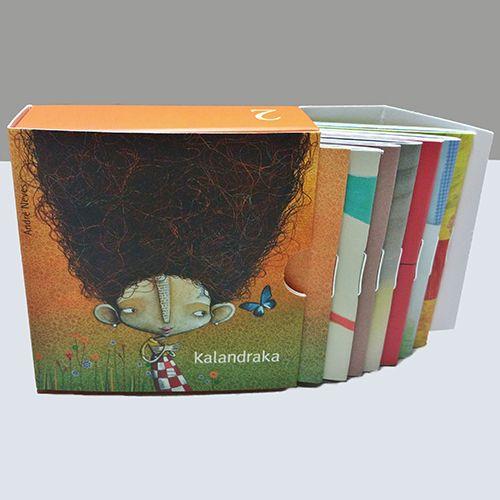 minilibros de la editorial Kalandraka con la portada de Orejas de mariposa