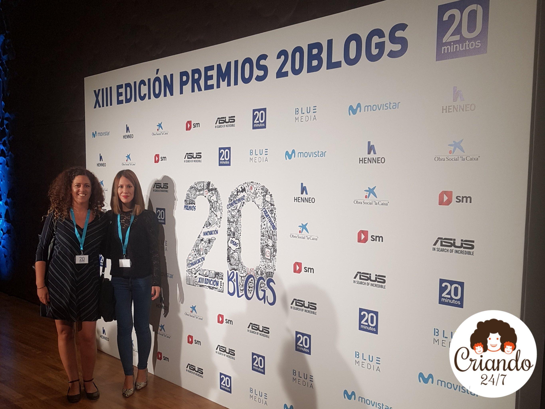 La Dra. Rocío Palomo Carrión y yo representando a Hemiweb en la entrega de los Premios 20 blogs