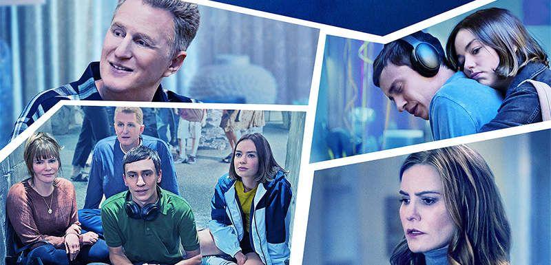 #seriesdiversas atypical, cartel con fotos de varias escenas de la serie