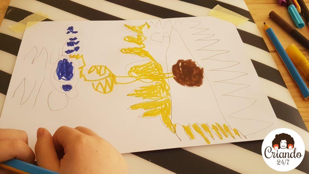 diubis de monstruo bueno y malo de mi hijo de 6 años. logo de criando 24/7