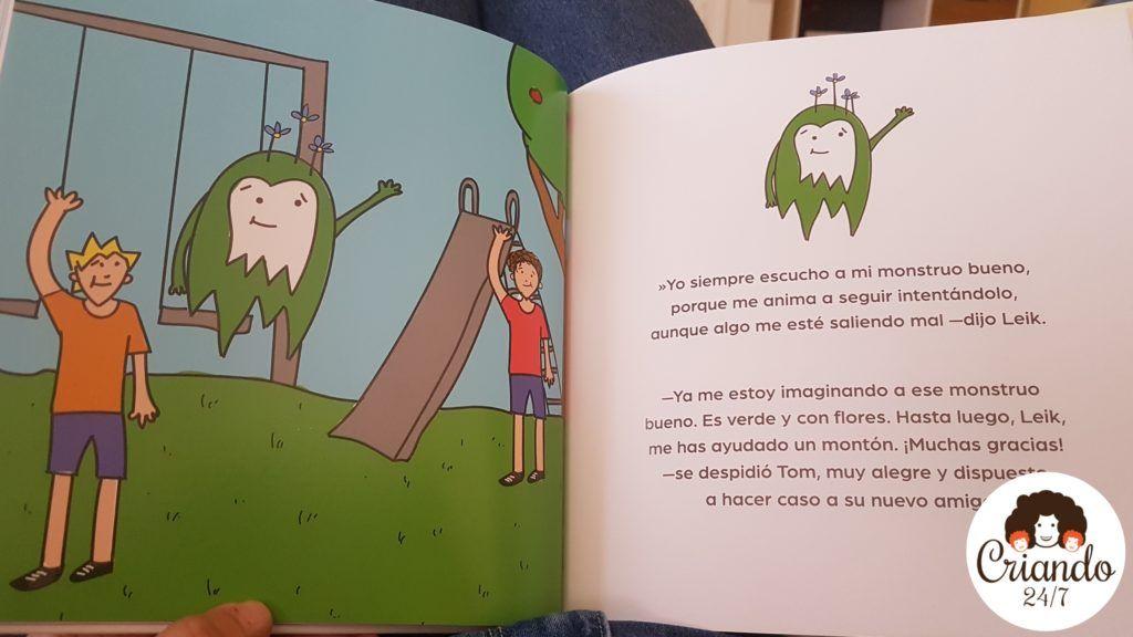 páginas del cuento mamá hay un monstruo en mi cabeza