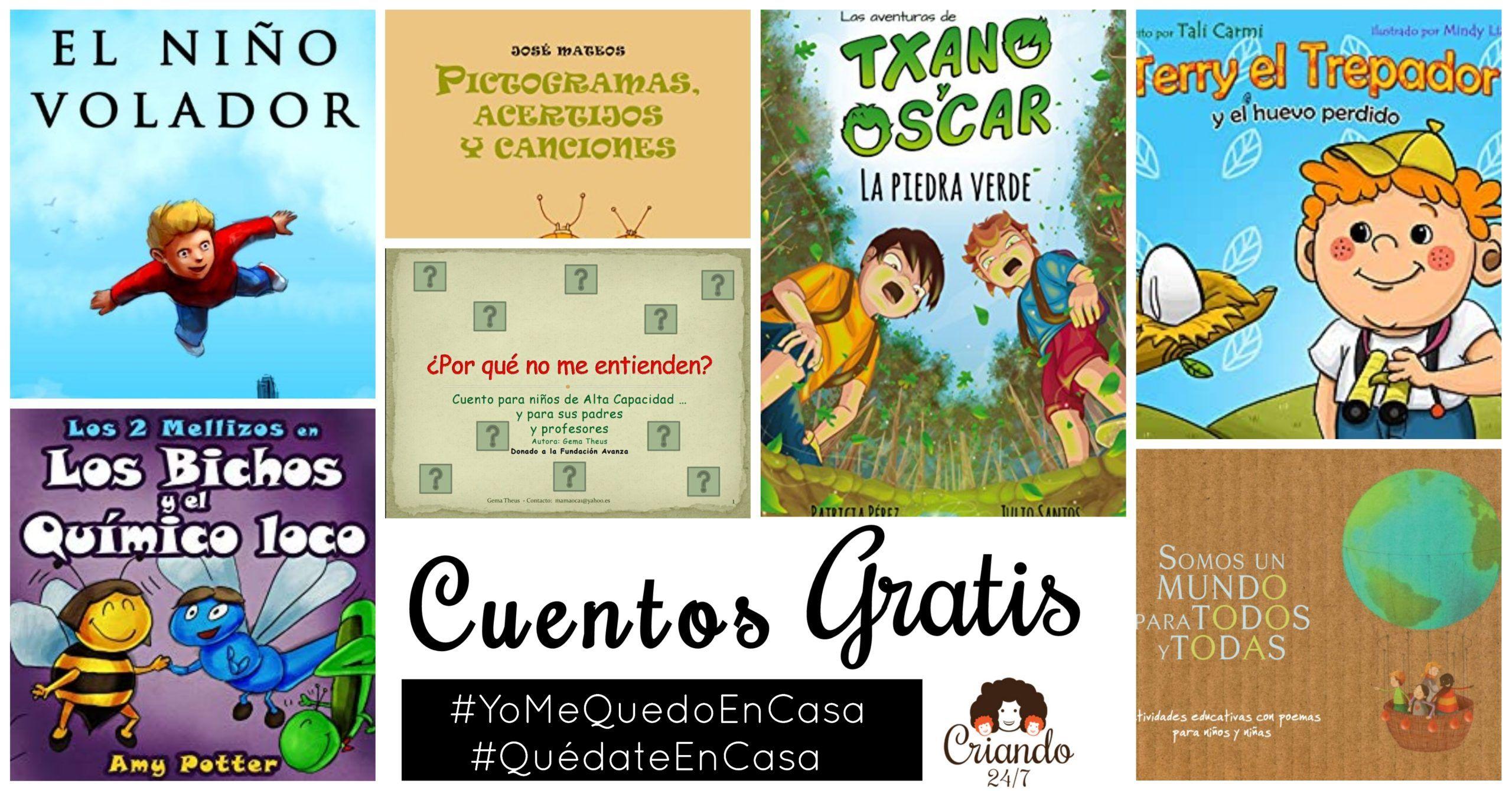 Selección de Cuentos GRATIS #YoMeQuedoEnCasa | CRIANDO 24/7