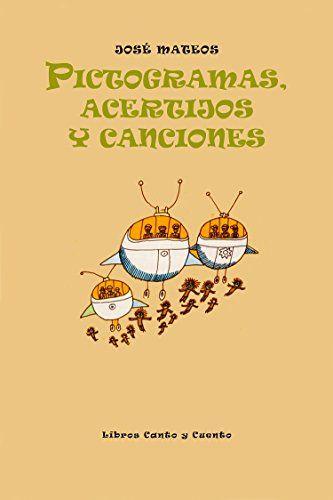 portada del libro pictogramas acertijos y canciones, con una ilustració de unas naves espaciales
