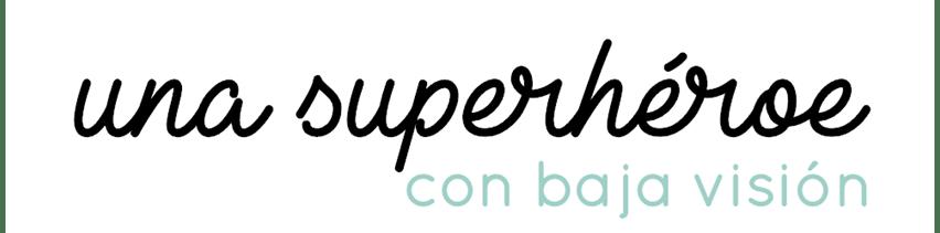 Logo de una superhéroe con baja vision