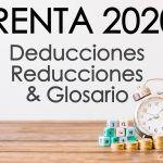 #Renta Glosario, Reducciones y Deducciones