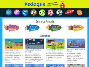 Pantallazo de la web Vedoque