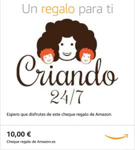 cheque regalo amazon de Criando 24/7 por € 10