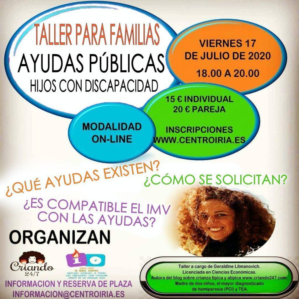 Taller online de Ayudas públicas para Familias Atípicas.