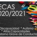 BECAS 2020/2021 Necesidades Específicas de Apoyo Educativo. Alumnado con Discapacidad, Altas Capacidades, Autismo y trastorno grave de conducta.