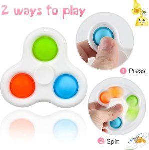 fidget spiner con botones de silicona para presionar