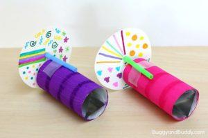 caleidoscopios de papel hechos a mano