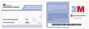 tarjeta de discapacidad de la comunidad de madrid