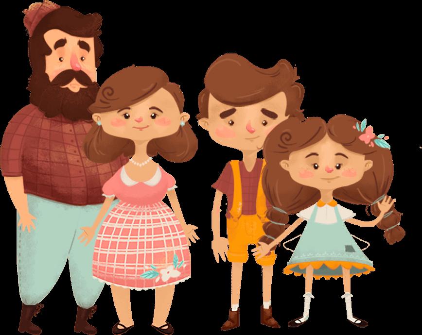 ilustracion de los personajes de Hansel y Gretel de pictocuentos